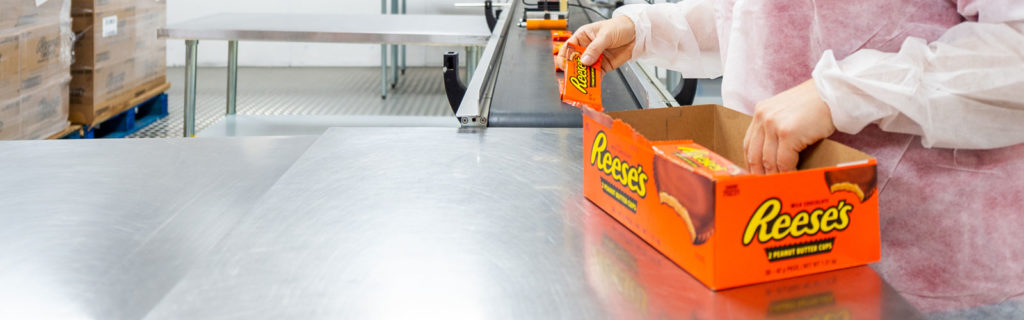 Confectionary and solid food packing services in the UK from Codex Contract Packing