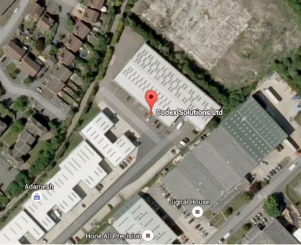 Overhead view of our location on Youngs Industrial Estate
